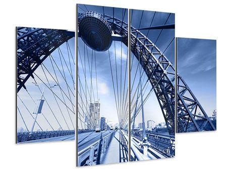 Aluminiumbild 4-teilig Schiwopisny-Brücke