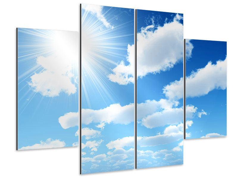 Aluminiumbild 4-teilig Am Himmel