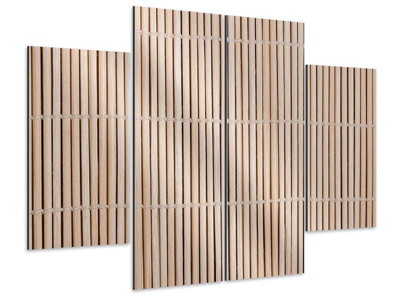 Aluminiumbild 4-teilig Lucky Bamboo