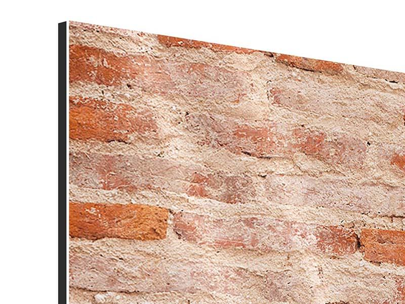 Aluminiumbild 4-teilig Mauerwerk