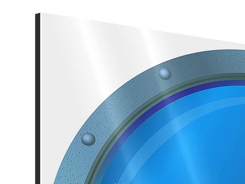 Aluminiumbild 4-teilig Bullauge