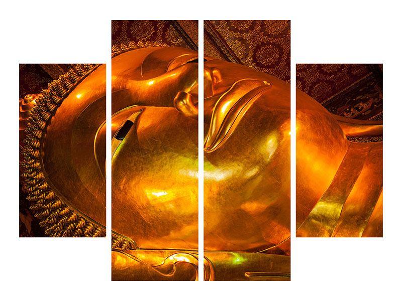 Aluminiumbild 4-teilig Liegender Buddha
