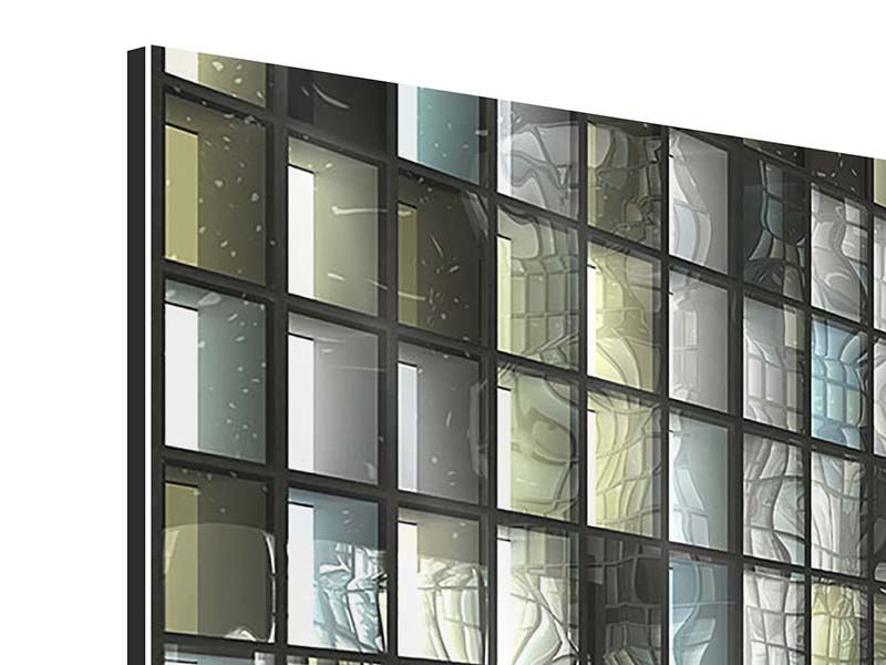 Aluminiumbild 4-teilig Windows