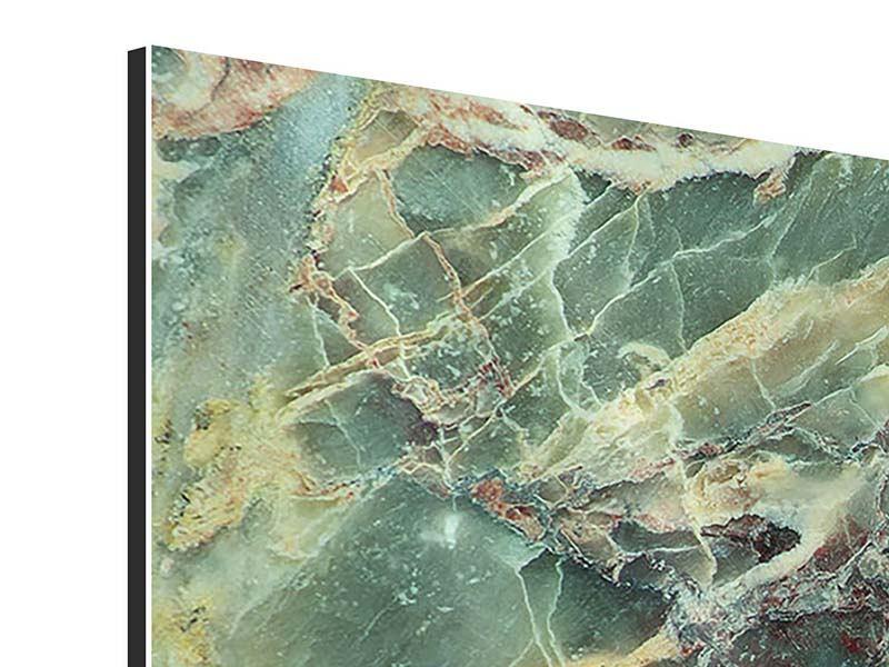 Aluminiumbild 4-teilig Marmor