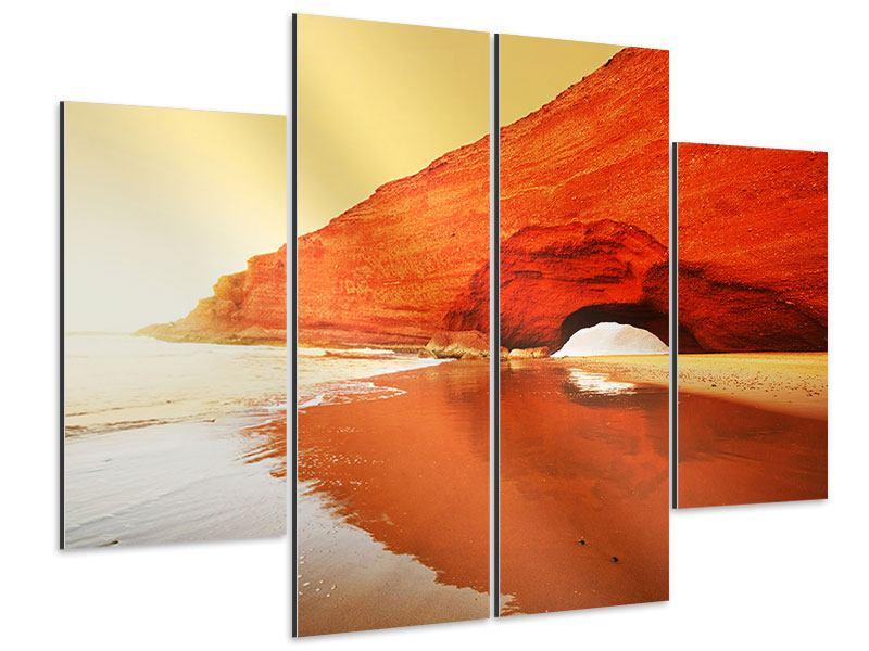 Aluminiumbild 4-teilig Wasserspiegelung