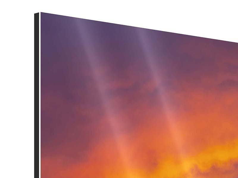 Aluminiumbild 4-teilig Sonnenuntergang im Canon