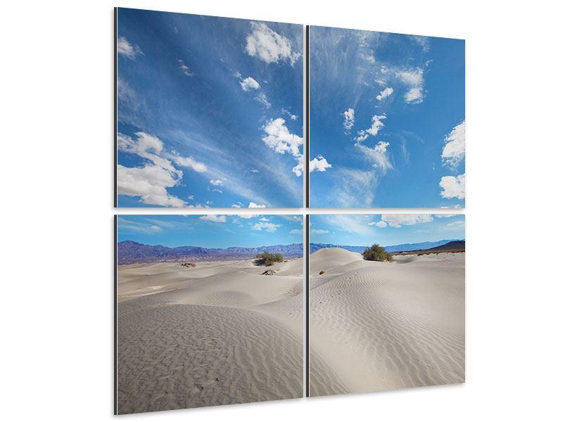 Aluminiumbild 4-teilig Wüstenlandschaft