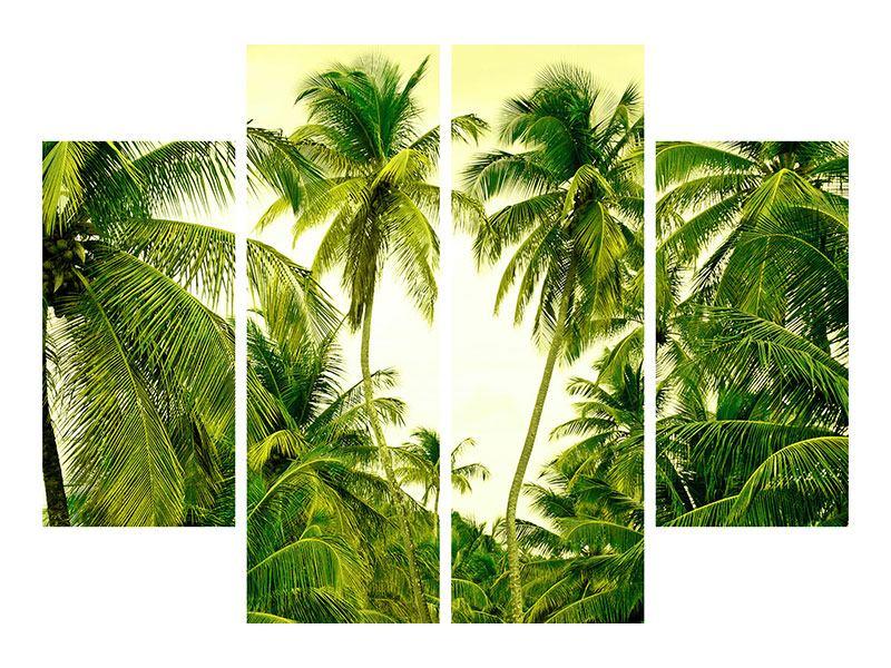 Aluminiumbild 4-teilig Reif für die Insel