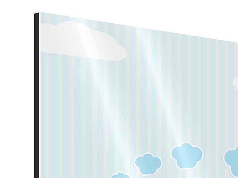 Aluminiumbild 4-teilig Der Regenbogenzug