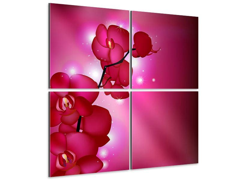 Aluminiumbild 4-teilig Orchideenmärchen