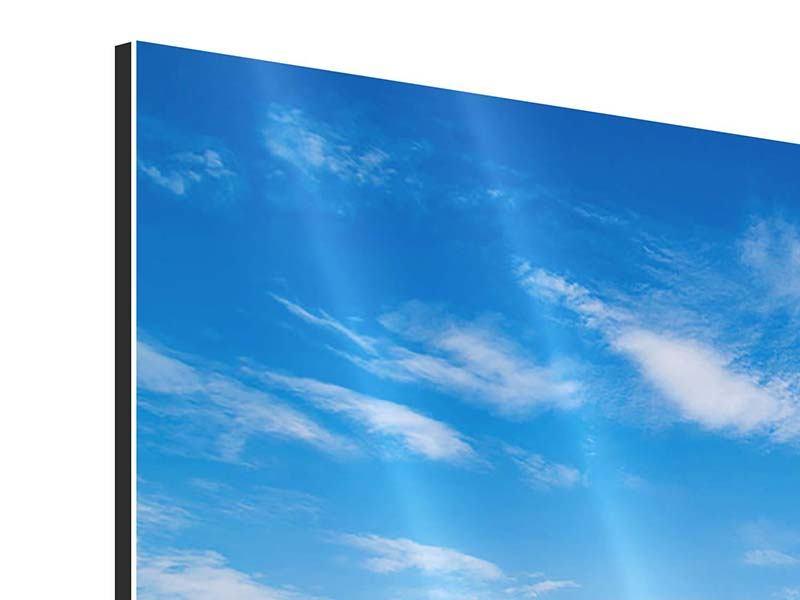 Aluminiumbild 4-teilig Blaue Lagune