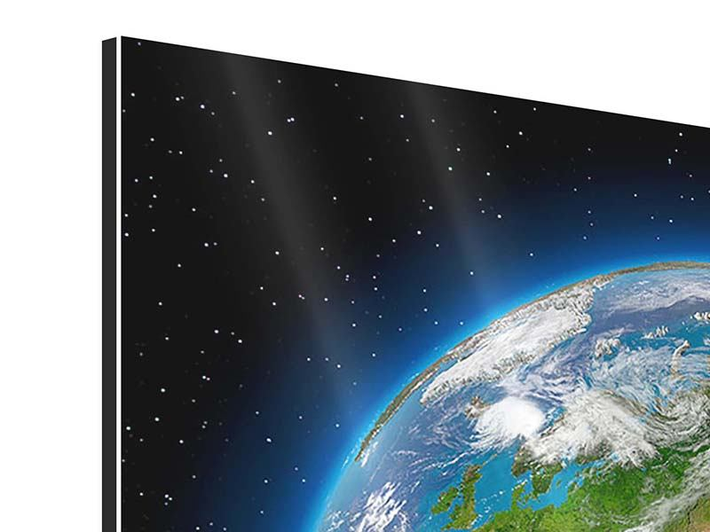 Aluminiumbild 4-teilig Die Erde als Planet