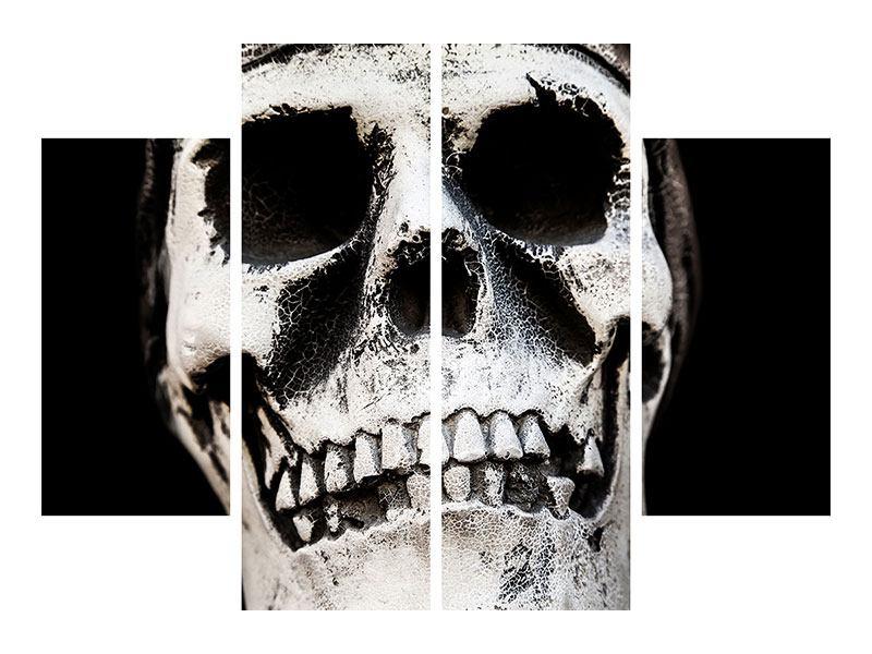 Aluminiumbild 4-teilig Skull