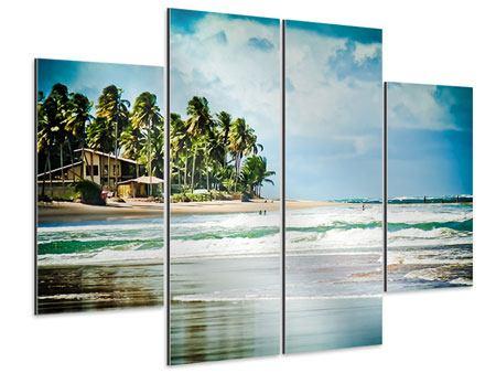 Aluminiumbild 4-teilig The Beach