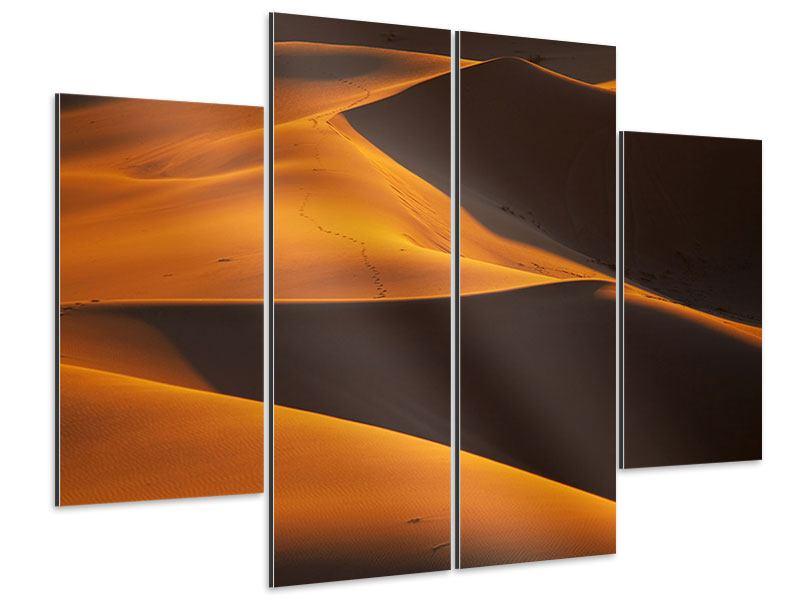Aluminiumbild 4-teilig Wüstensand