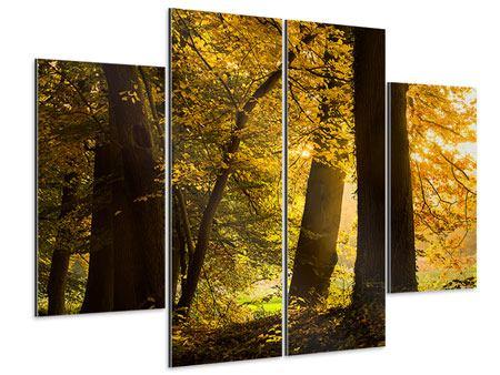 Aluminiumbild 4-teilig Herbstlaub