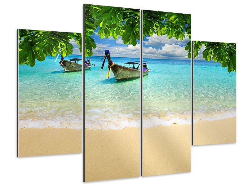 Aluminiumbild 4-teilig Ein Blick auf das Meer