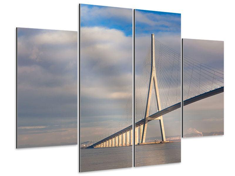 Aluminiumbild 4-teilig Pont de Normandie