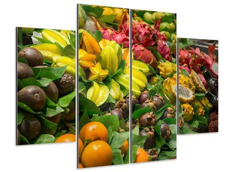 Aluminiumbild 4-teilig Früchte