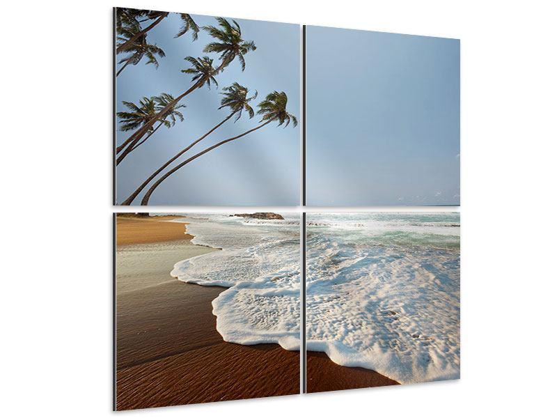 Aluminiumbild 4-teilig Der Fels