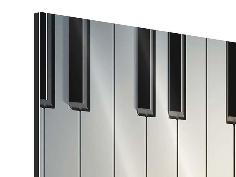 Aluminiumbild 4-teilig Klaviertasten