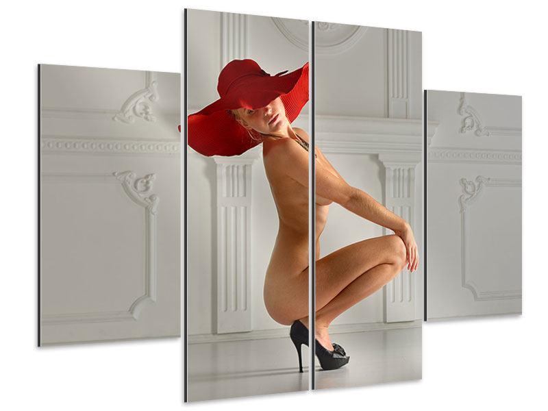 Aluminiumbild 4-teilig Nude-Diva