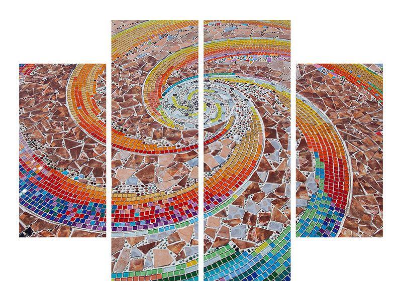Aluminiumbild 4-teilig Mosaik