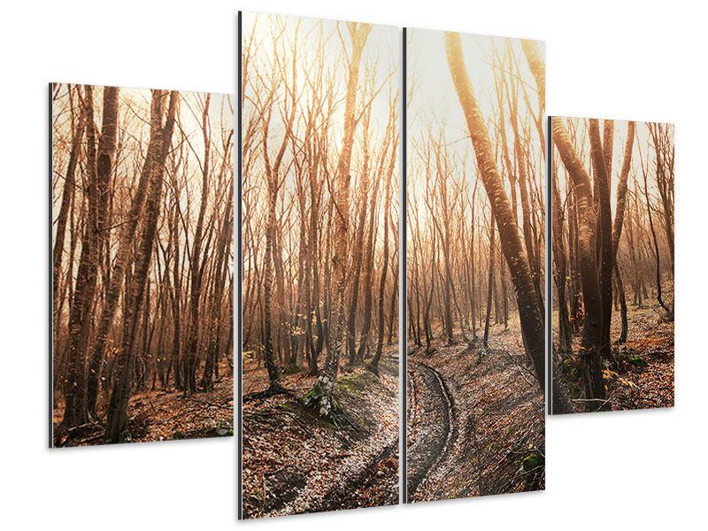Aluminiumbild 4-teilig Der kahle Wald