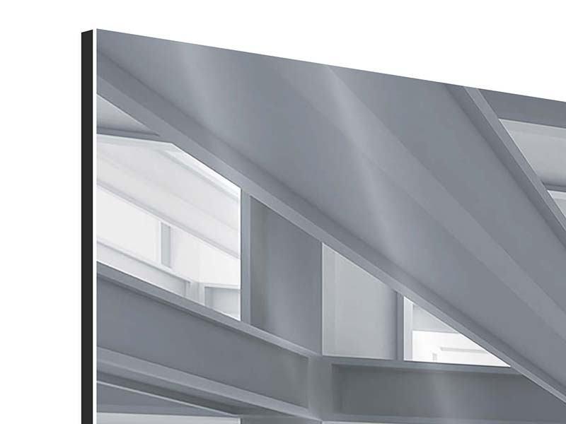 Aluminiumbild 4-teilig Räume
