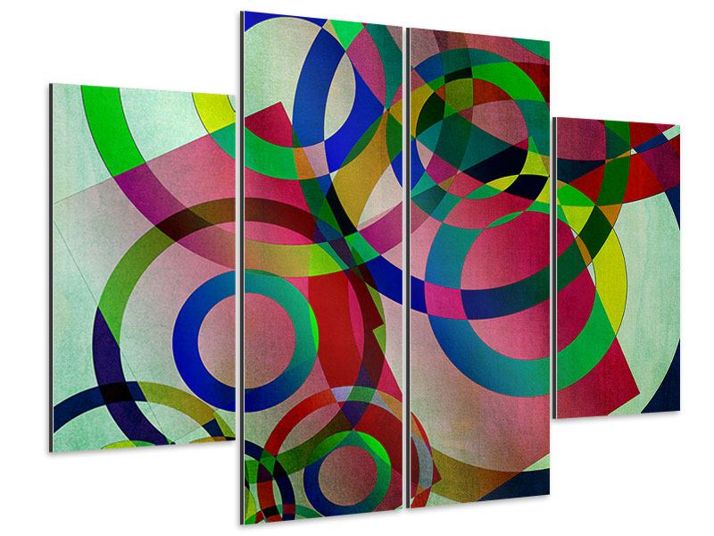 Aluminiumbild 4-teilig Wandkunst