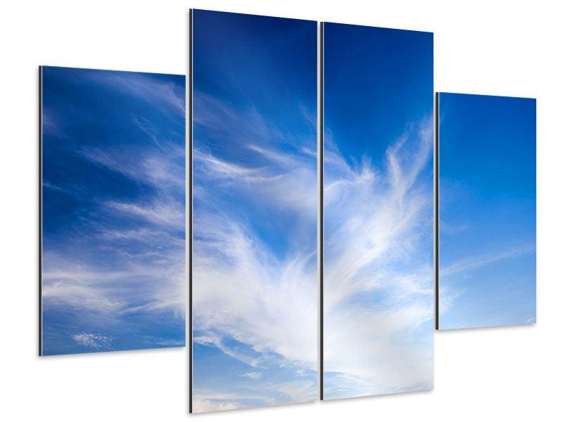 Aluminiumbild 4-teilig Schleierwolken