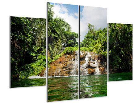 Aluminiumbild 4-teilig Lagune