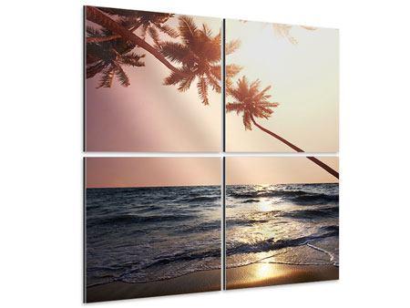 Aluminiumbild 4-teilig Am Meer