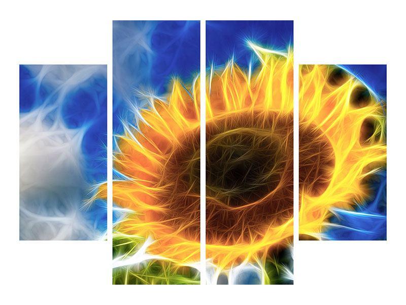 Aluminiumbild 4-teilig Der Sonne entgegen
