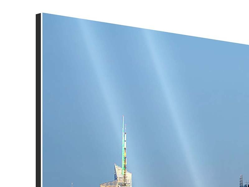 Aluminiumbild 4-teilig Skyline Midtown Manhattan