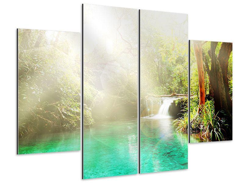 Aluminiumbild 4-teilig Die grüne Lagune