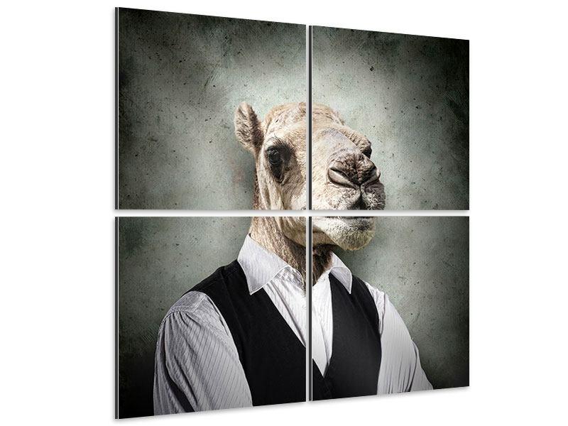 Aluminiumbild 4-teilig Das Portrait