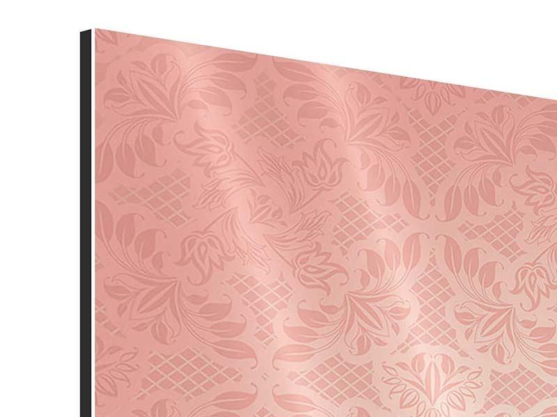 Aluminiumbild 4-teilig Rokoko in Rosa
