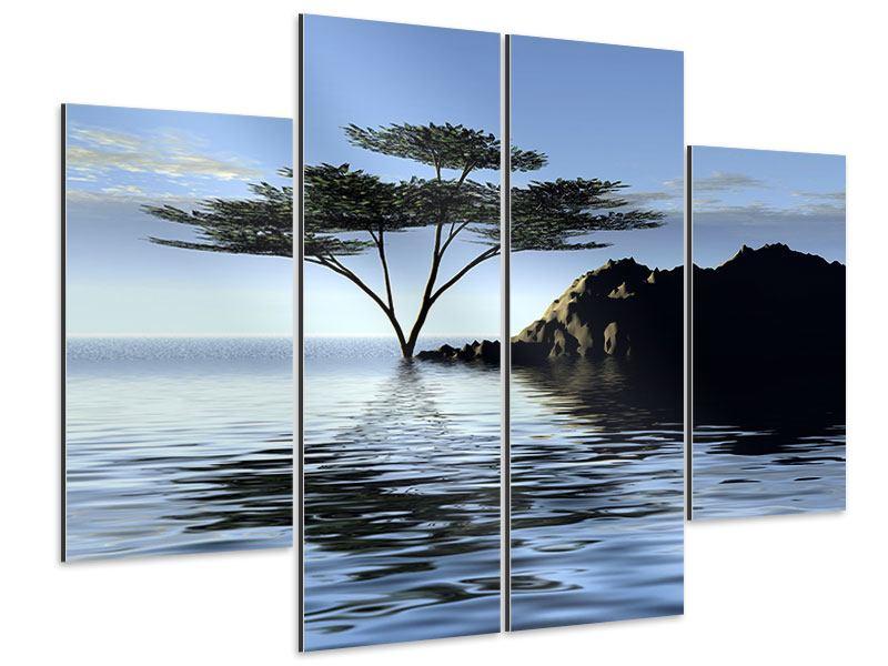 Aluminiumbild 4-teilig Naturfaszination
