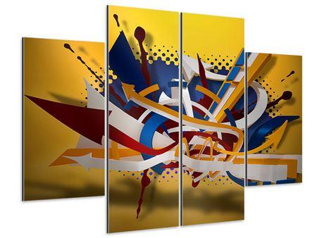 Aluminiumbild 4-teilig Graffiti Art