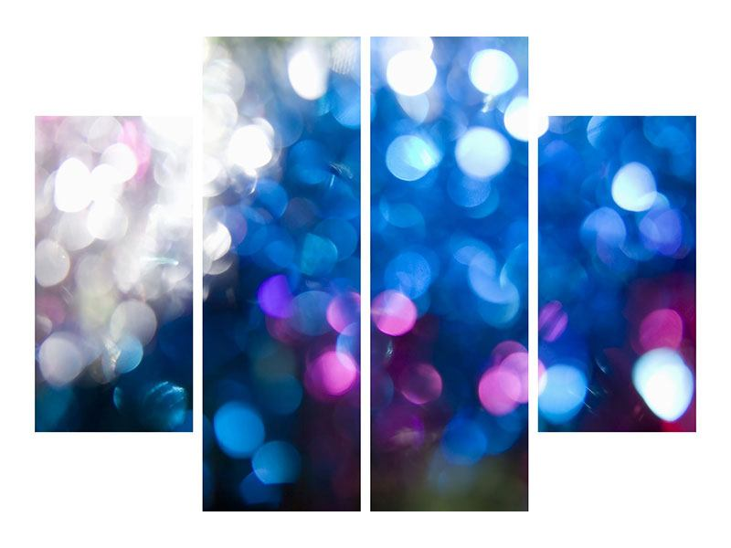 Aluminiumbild 4-teilig Abstraktes Licht