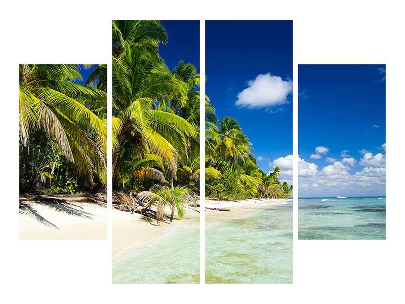Aluminiumbild 4-teilig Die einsame Insel
