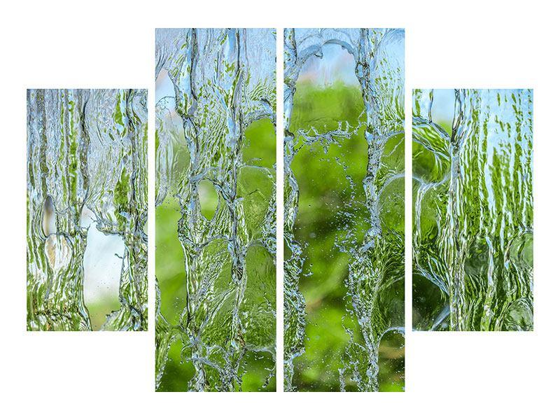 Aluminiumbild 4-teilig Hinter dem Wasserfall