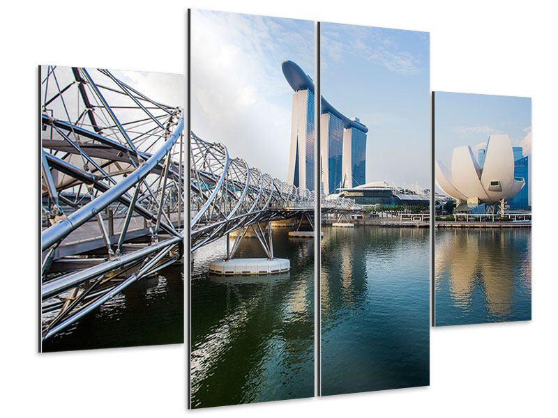 Aluminiumbild 4-teilig Singapur