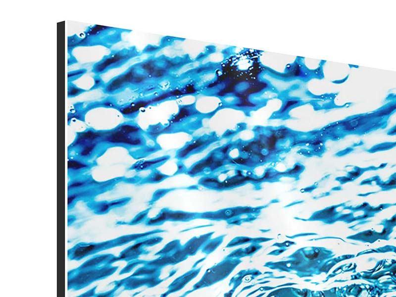 Aluminiumbild 4-teilig Wasser in Bewegung