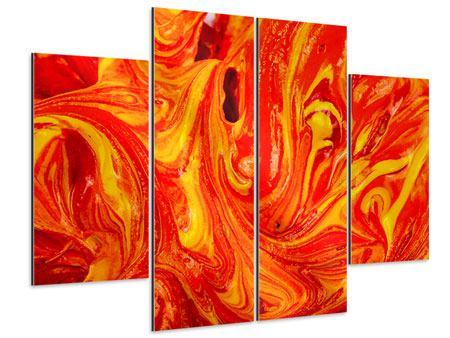 Aluminiumbild 4-teilig Wandgemälde