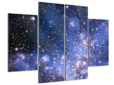 Aluminiumbild 4-teilig Sternenhimmel