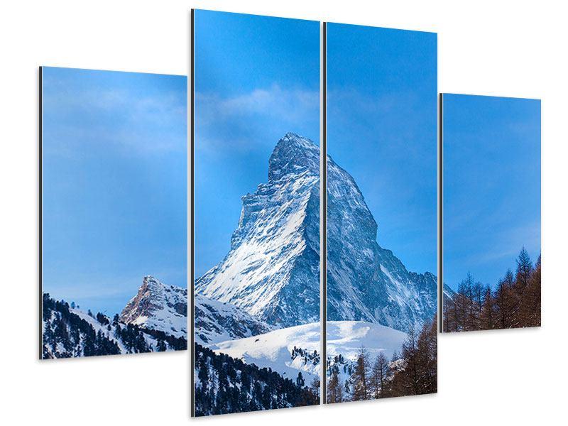 Aluminiumbild 4-teilig Das majestätische Matterhorn