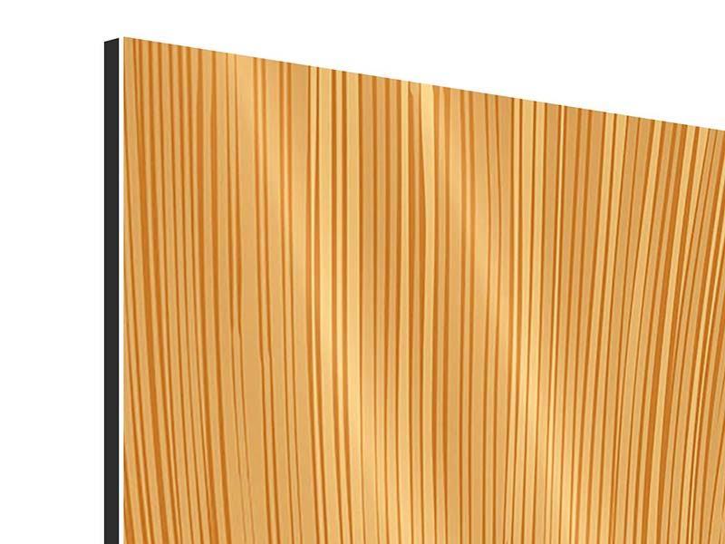Aluminiumbild 4-teilig Wooden