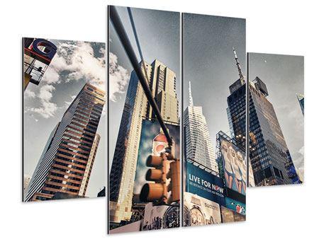 Aluminiumbild 4-teilig Times Square